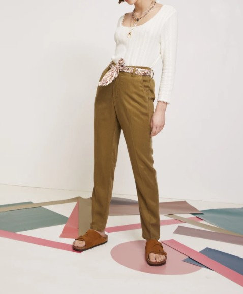 LAB DIP - Pantalon THEA - Couleurs Ecume ou Algue