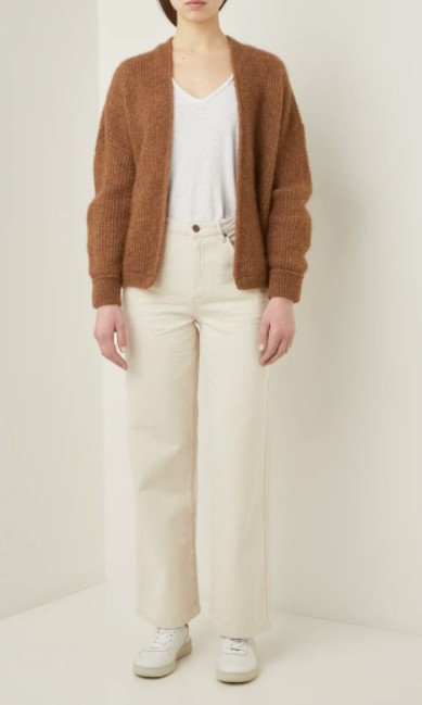 American Vintage - JEAN droit, taille haute, TINEBOROW - Coloris écru