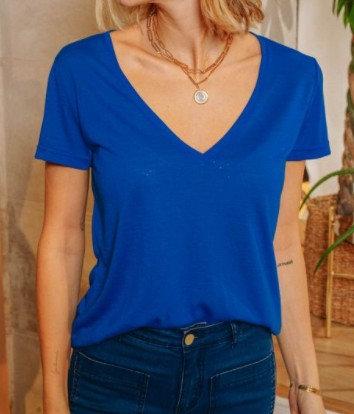 La Petite Etoile - Tee-Shirt - Coloris Marine, Kaki, Bleu, Fushia - Ref: ELVIE