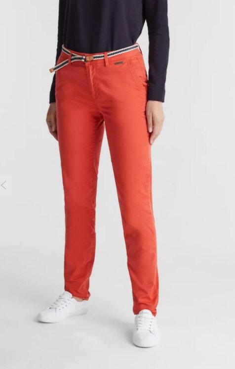 ESPRIT - Chino avec ceinture - Couleur Corail - Ref : 030EE1B310