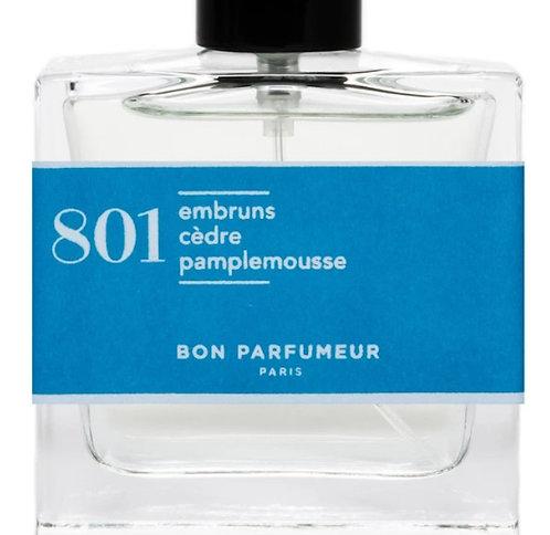 BON PARFUMEUR - Flacon 801 - embruns, cèdre, pamplemousse