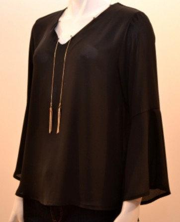 La Fée Maraboutée - Blouse noire - Ref: FB5524