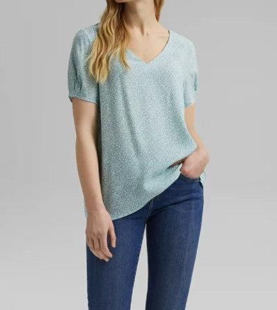 ESPRIT - Haut façon blouse floral - Ref : 031EE1F310