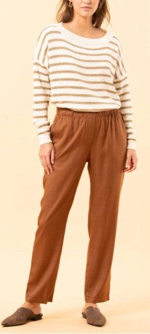 La Fée Maraboutée - Pantalon DAMILA - Coloris noir et tabac