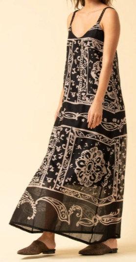 La Fée Maraboutée - Robe longue imprimée foulard - Ref: NATALIE