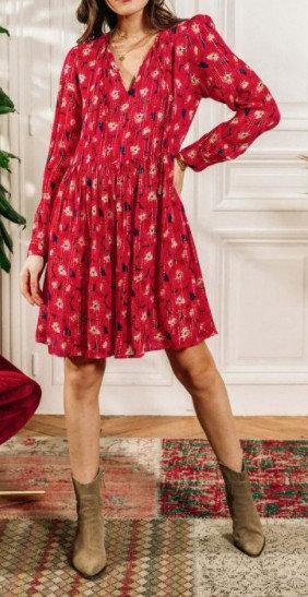 La Petite Etoile - Robe fleurie avec fil doré - Ref: LEONIDE