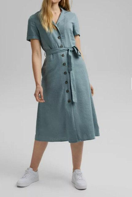 ESPRIT - la robe-chemisier à ceinture - Ref: 031EE1E329