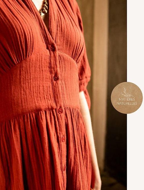La Petite Etoile - Robe en gaze de coton à nœud - Ref: MAZARINE