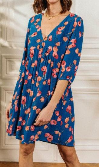 La Petite Etoile - Robe imprimée fleurs - Ref: LUCIANIE