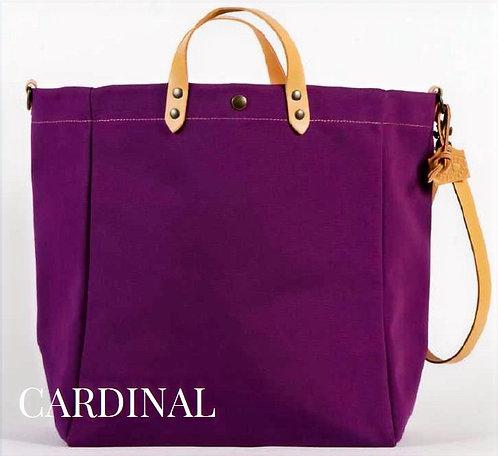 TAMPICO - Sac coton / cuir -  Couleur Cardinal - Ref 4004 S