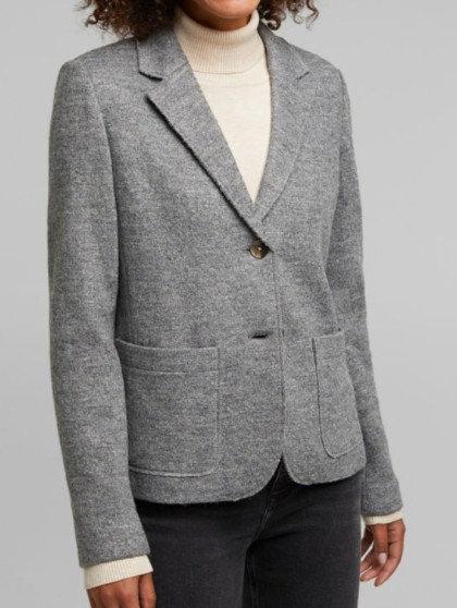 ESPRIT - Veste tailleur en laine - Taille 44 - Ref : 100EE1G311