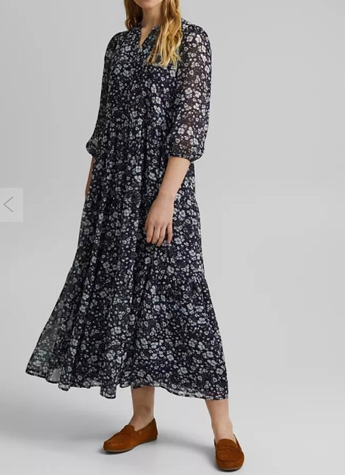 ESPRIT - robe maxi en mousseline froissée - Réf : 031EE1E304