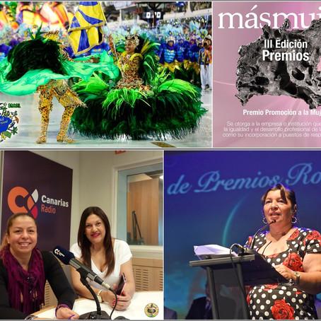 """Carnaval de Brasil y premios """"Más Mujer"""" en igualdad y cultura"""