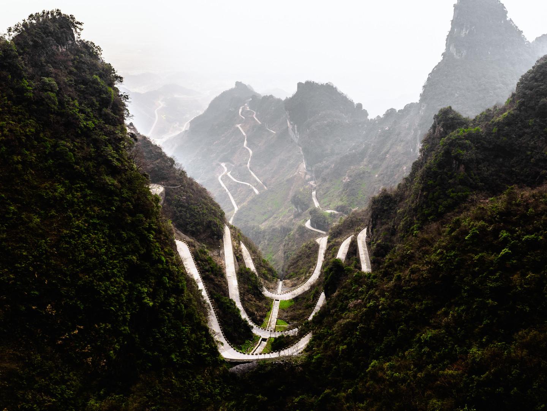 Mont Tianmen, Zhangjiajie, China, 2018.