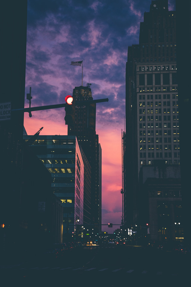 sunsets in the city