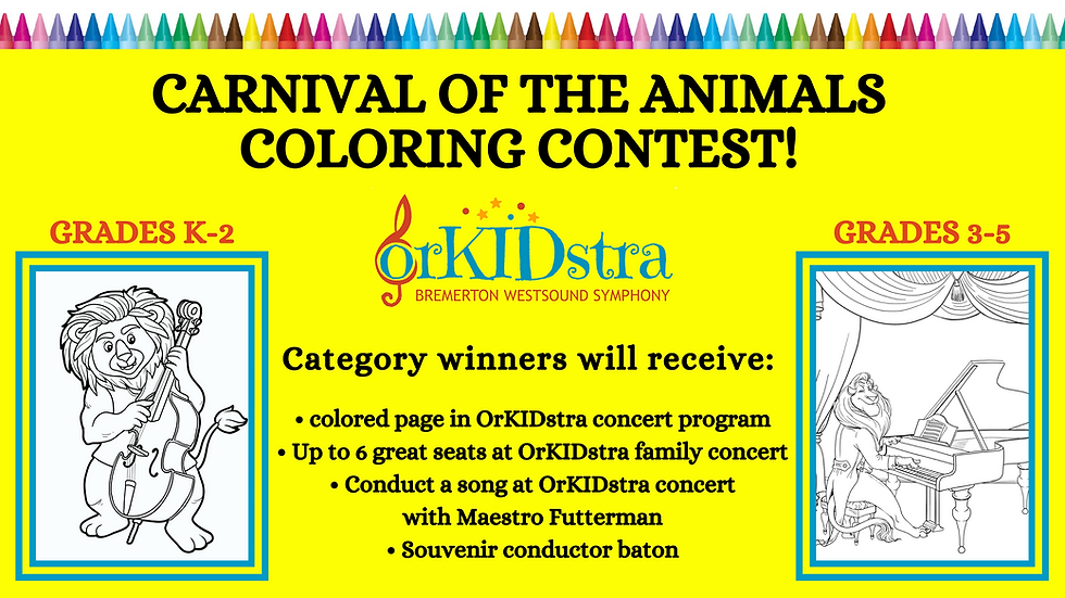 Carnival of the animals coloring contest