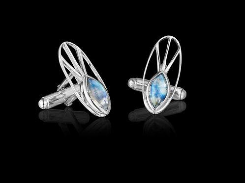 Blue Moonstone Sterling Silver Cufflinks