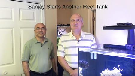 SanJay is setting up a new coral reef aquarium - starting the saltwater aquarium