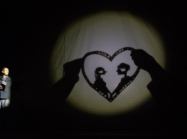 shadow puppet designed and made by Matthew Robins