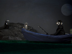 still frame from Lanterns, animated music video by Matthew Robins for Passenger