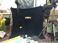 filming the submarine for the animated music video Lonesome, directed and animated by Matthew Robins