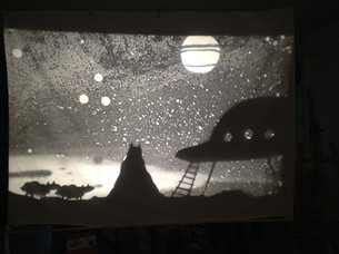 Flyboy shadow puppets by Matthew Robins