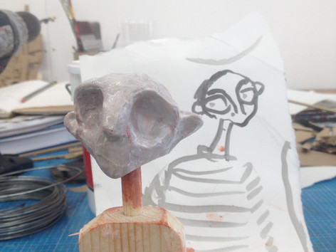 Matthew Robins puppet design for Lonesome music video