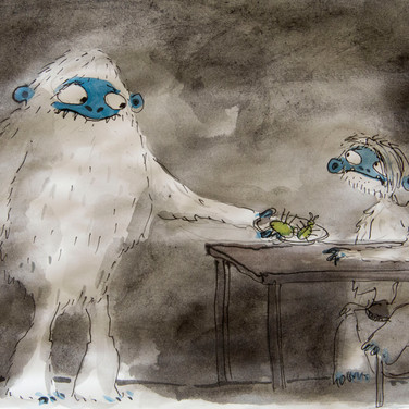 """Matthew Robins concept artwork for the stop-motion animated music video """"Simple Song"""" for Passenger"""