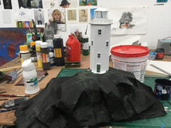 model lighthouse for stop-motion music video, Lanterns, animated and directed by Matthew Robins for Passenger