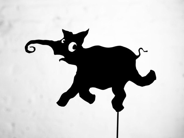 shadow puppet by Matthew Robins from Rain Falling Up