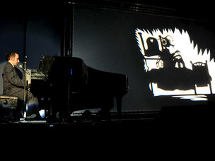 Matthew Robins live at the De La Warr Pavilion in Bexhill, peforming Flyboy Goes to the Butchers