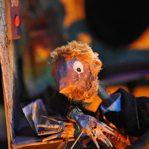 puppets designed by Matthew Robins for Something Very Far Away