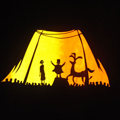shadow puppets designed by Matthew Robins for Something Very Far Away
