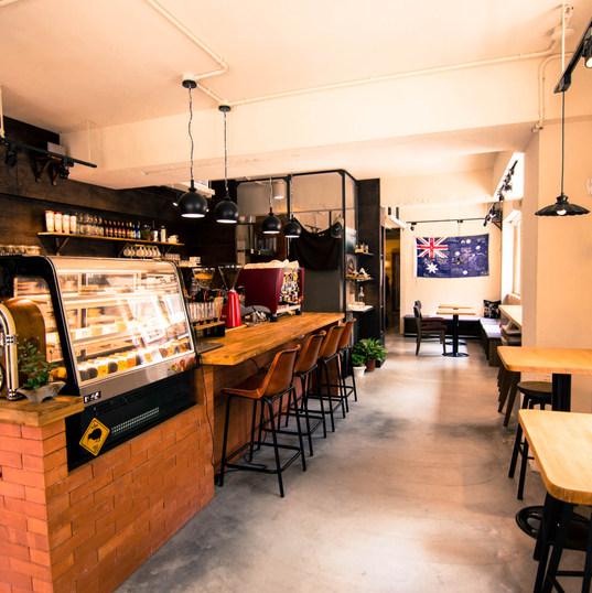 澳氏咖啡吧台區