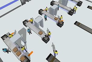 Flexsim airport security simulation