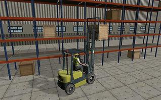 Flexsim fork truck simulation