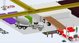 Flexsim construction project simulation
