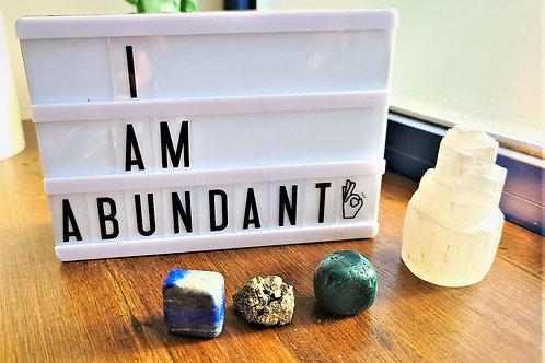 I Am Abundant~Intention Setting Gemstone Kit Large