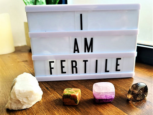 I Am Fertile~Intention Setting Gemstone Kit Large