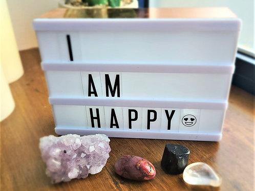 I Am Happy ~Intention Setting Gemstone Kit Large