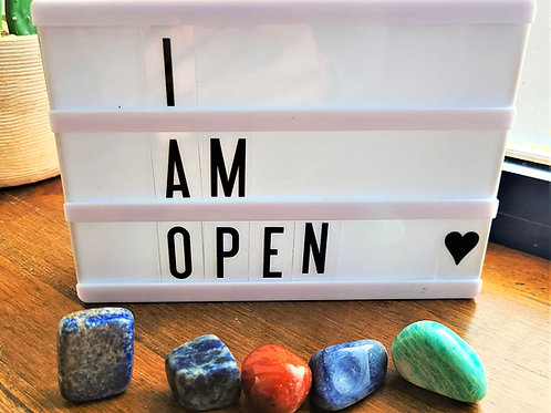 I Am Open ~ Intention Setting Gemstone Kit