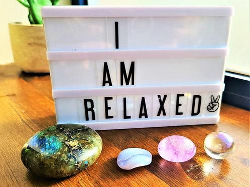 I Am Relaxed ~Intention Setting Gemstone Kit Large