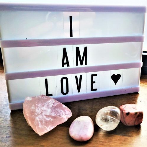 I am Love ~ Intention setting Gemstones (large)