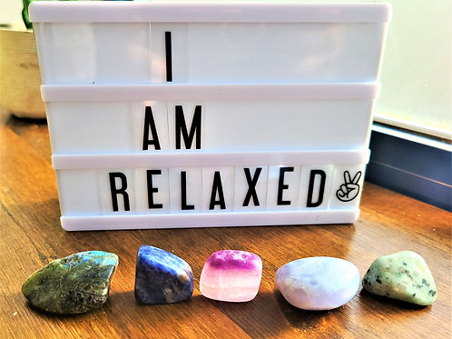 I Am Relaxed ~Intention Setting Gemstone Kit