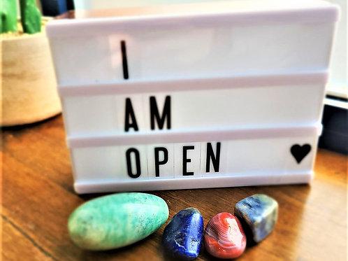 I Am Open ~ Intention Setting Gemstone Kit Large