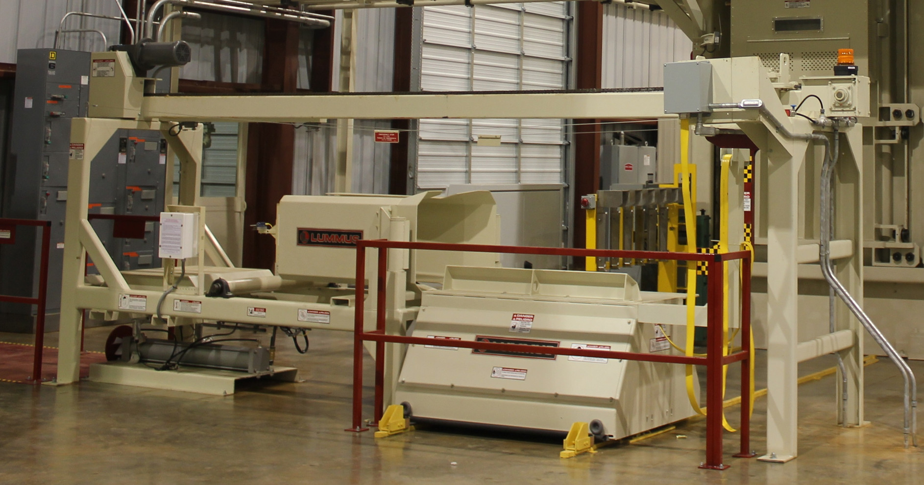 Bale Handling System for down-packing press