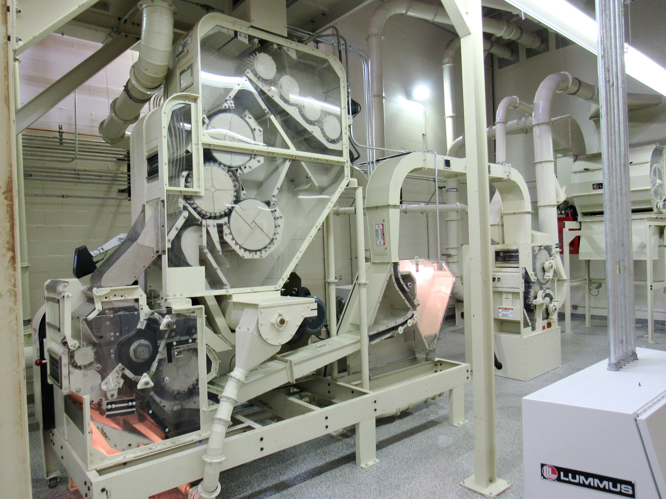 Laboratory Saw Ginning and Lint Cleaning Line with Lexan-sided Feeder, 24-Saw Gin, Super-Jet® and Sentinel™ II Lint Cleaning