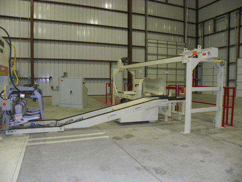 Bale Handling System for up-packing press