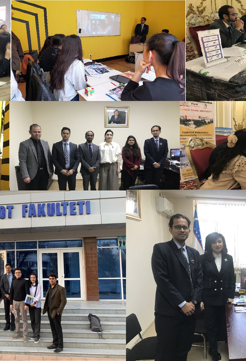 Meetings & Presentation in Tashkent, Uzbekistan -March 2020