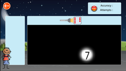 Flashlight Maths - spots to number